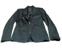 Black Peace Now Rain Pattern / Lace Jacket