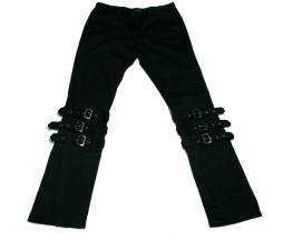 Black Peace Now Triple Strap Pants