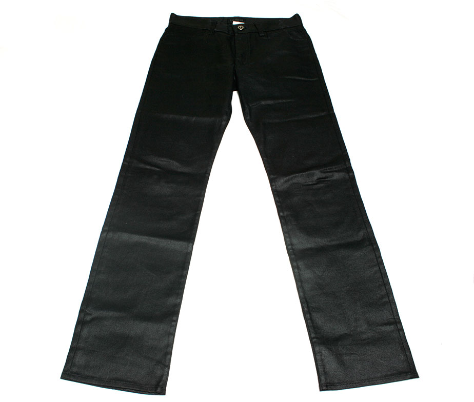 Men's DIESEL Straight-leg jeans More product details Black cotton waxed denim jeans from diesel featuring a concealed zip fastening, belt loops, side seam pockets, rear welt pockets, a leather brand patch to the rear and a slim smashingprogrammsrj.tk: $