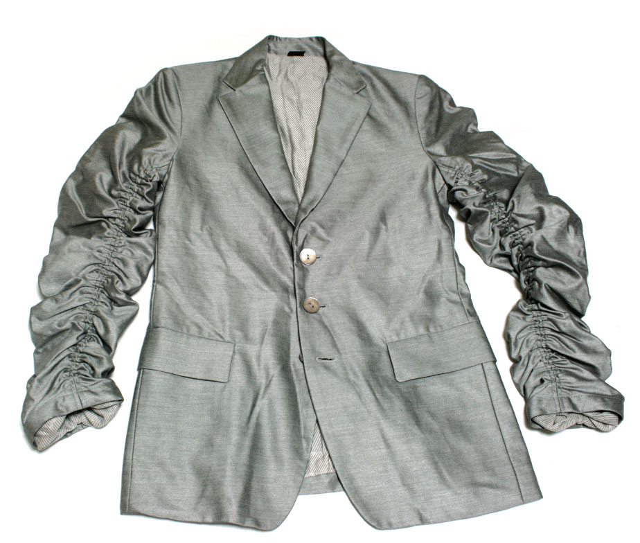Gadget Grow Silver Gathered Sleeves Jacket - Tenshi Shop