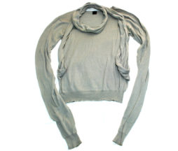 Gadget Grow Attached Scarf Sweater
