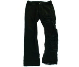 Black Peace Now Slit Leg Pants
