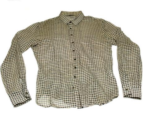 Gadget Grow Sheer Fabric Gingham Button-Up Shirt