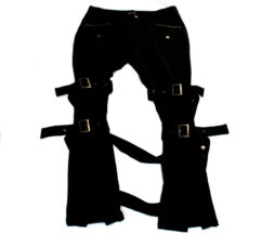 Black Peace Now Leg Strap Bondage Pants