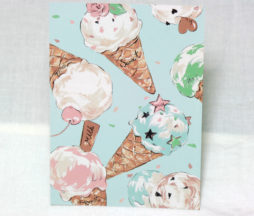 Milk Icecream Postcard