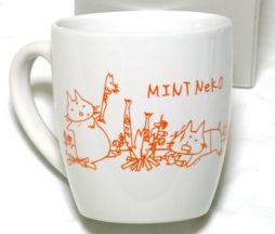Sixh. Mint Neko Mug (White)