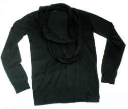 Gadget Grow Attached Scarf Cardigan
