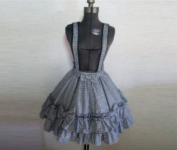 Angelic Pretty Odekake (Going Out) Houndstooth Suspender Skirt