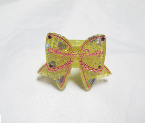 Angelic Pretty Tokimeki Ribbon Ring Yellow