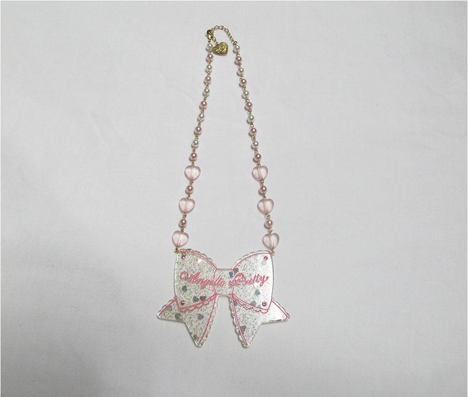 Angelic Pretty Tokimeki Ribbon Necklace White