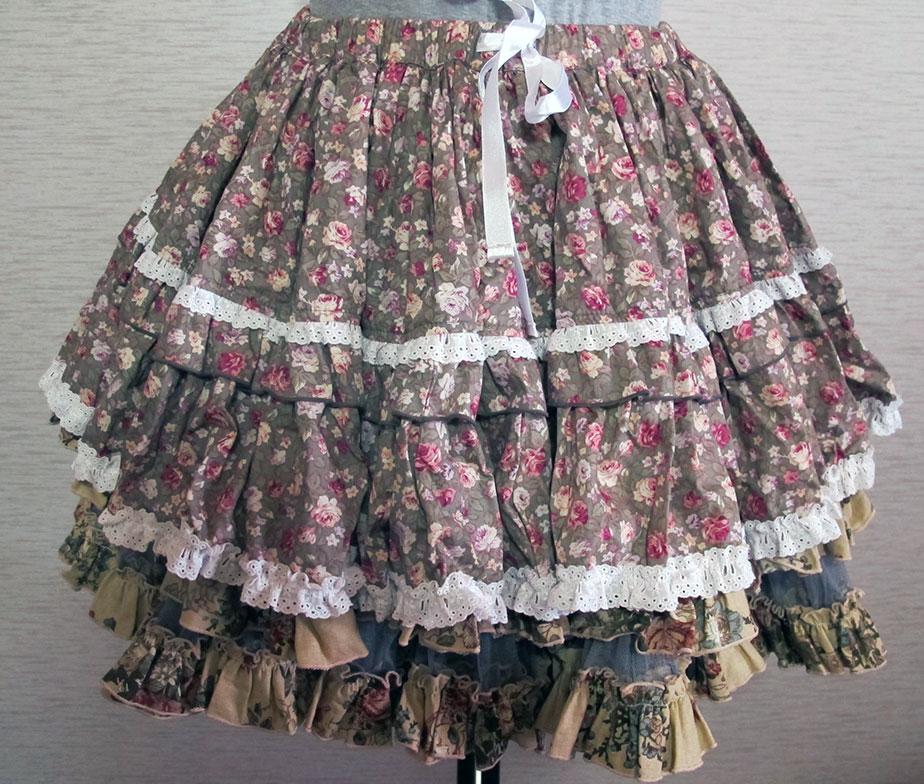 H. Naoto Frill Layerd Skirt