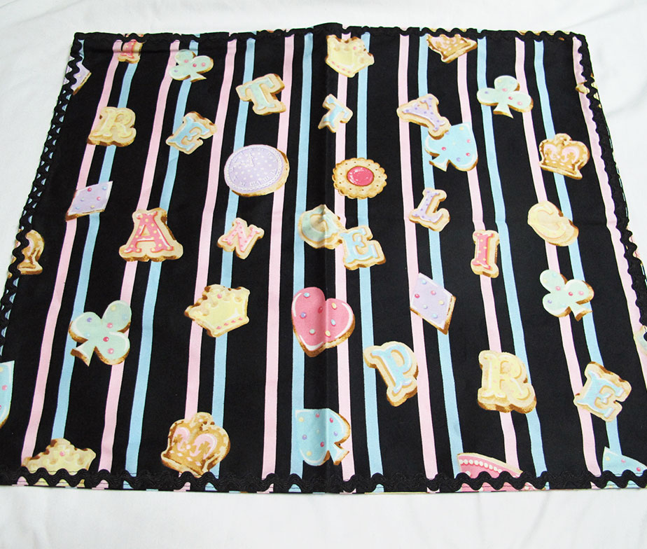 Angelic Pretty Wonder Cookie Pillow Cover Black