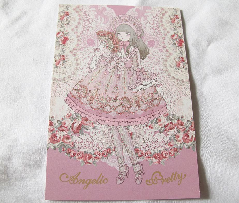 Angelic Pretty Imai Kira Belle Epoch Rose Postcard