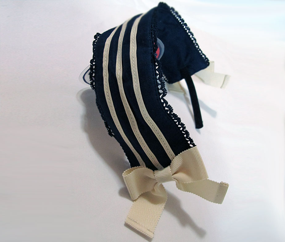Victorian Maiden Marine Stripe Headdress