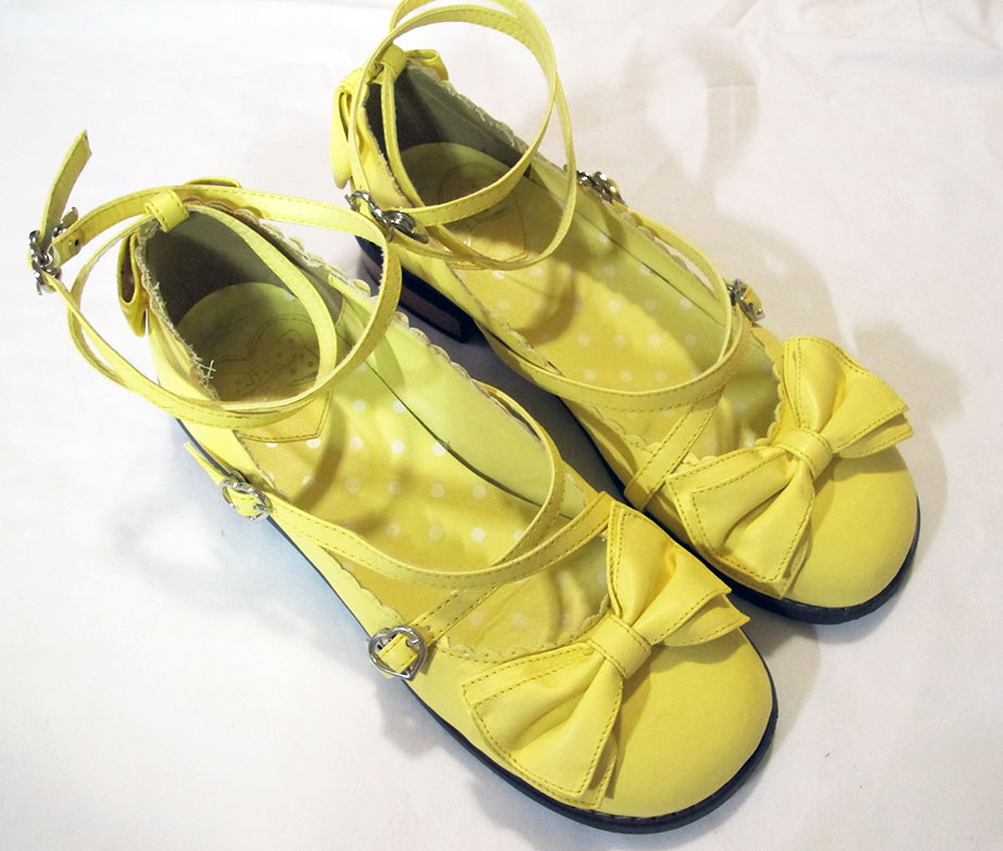 Angelic Pretty Tea Party Shoes Yellow LL
