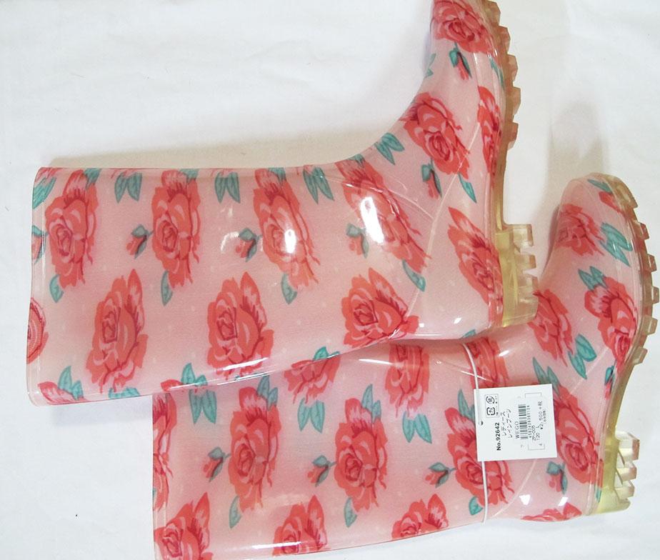 WeGo Pink Rose Rainboots