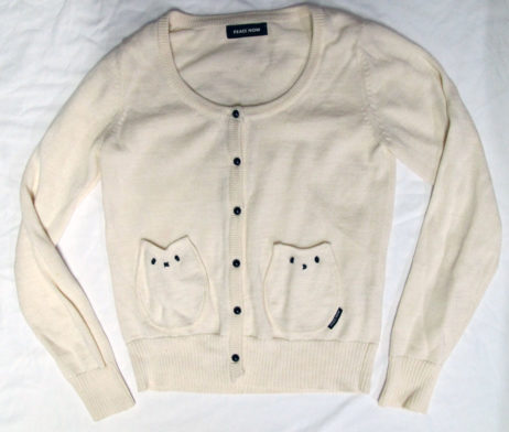 Peace Now Cat Owl Pocket Cardigan
