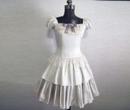 Victorian Maiden Ribbon Lace Tiered OP Dress