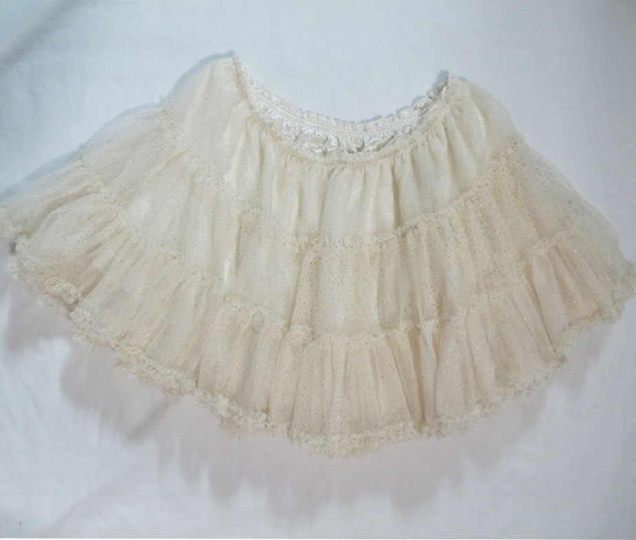 Swimmer Gold Glitter Petticoat Skirt