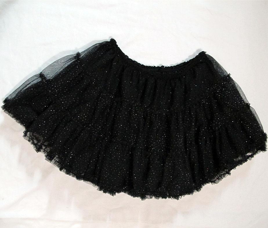 Swimmer Silver Glitter Petticoat Skirt