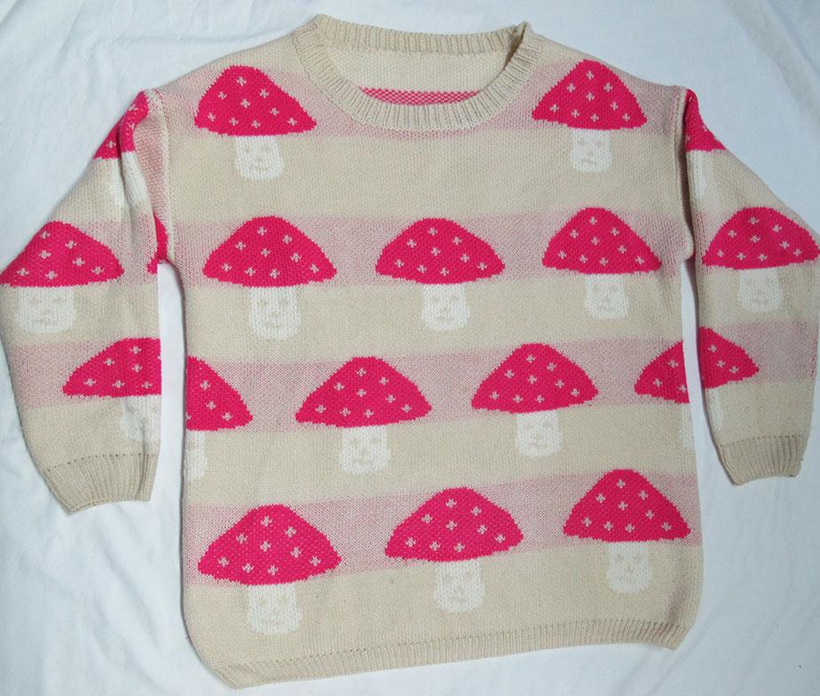 Funky Mushroom Sweater