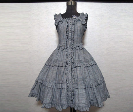 Metamorphose Checked  Pintuck Tiered JSK