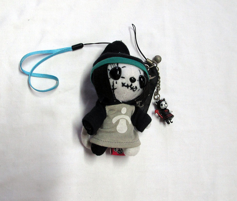 Hangy and Angry Mint Neko Plush Strap Set