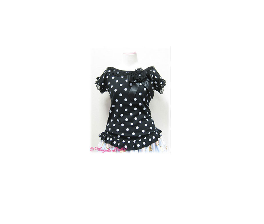 Angelic Pretty Polkadot Cutsew with Corsage
