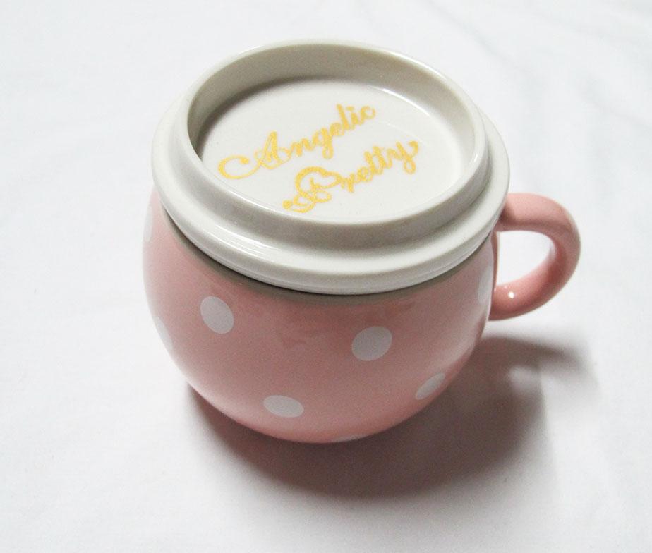 Angelic Pretty Cute Dot Fondue Pot Pink
