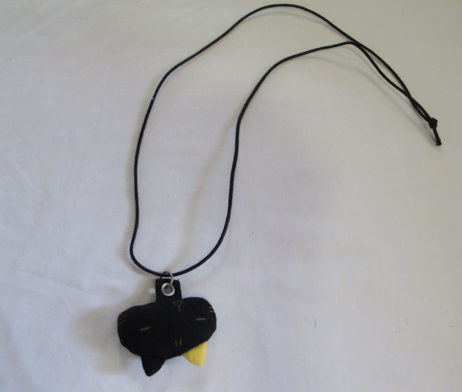 Mint Neko Plushie Black Cat Necklace