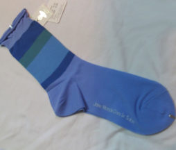 Jane Marple Border Crew Socks