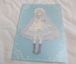 Imai Kira Girl in Blue Postcard