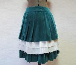 Jane Marple Velvet Pleated Skirt