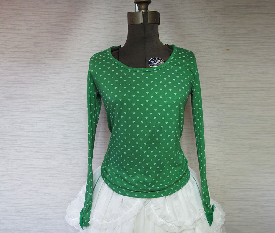 Emily Temple Cute Green Heart Pattern Cutsew