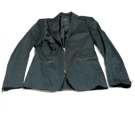 Black Peace Now Rain Pattern / Lace Jacket