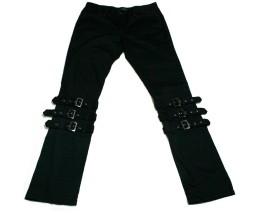 Black Peace Now Triple Strap Pants