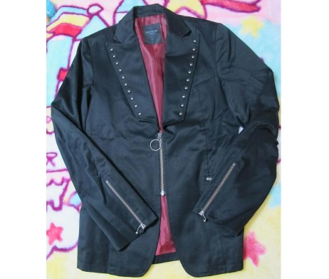 Black Peace Now for Men Studded Jacket
