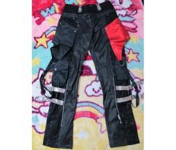 H. Naoto Sixh Red and Black Pants