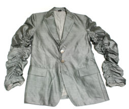 Gadget Grow Silver Gathered Sleeves Jacket