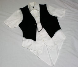 Black Peace Now Short Sleeved Tail-Shirt and Vest