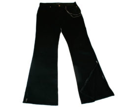 Black Peace Now for Men Leather Pocket Pants