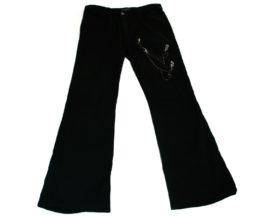 Black Peace Now Zipper Chain Pants