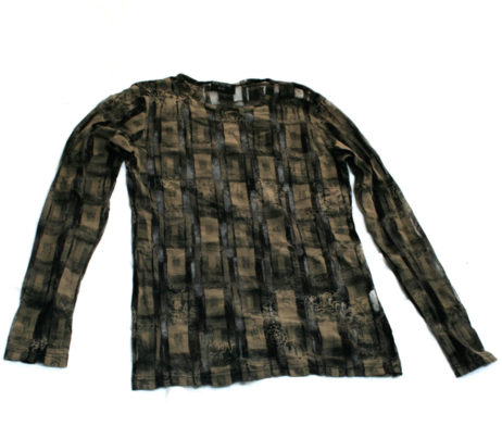 Black Peace Now Mesh and Patterned Pullover