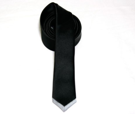 Black Peace Now Silver Tipped Skinny Tie