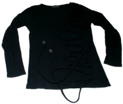 Black Peace Now Rib Slit Pullover