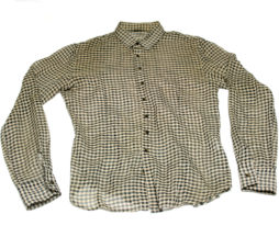 Gadget Grow Sheer Fabric Gingham Button-Up Shirt