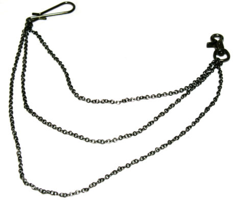 Black Peace Now Draped Wallet Chain