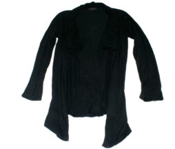Black Peace Now Heavy Knit Cardigan