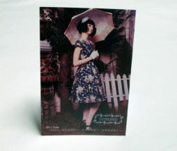 Victorian Maiden Floral OP and Parasol Postcard