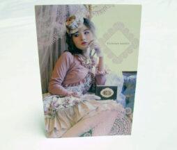 Victorian Maiden Pink Floral Coordinate Postcard